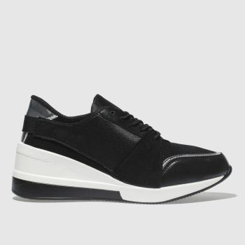 SCHUH BLACK & WHITE TIME OUT TRAINERS