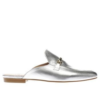SCHUH SILVER RITZY FLAT SHOES
