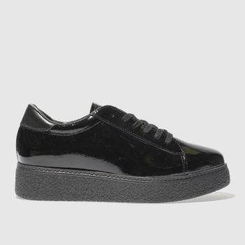 SCHUH BLACK GET READY FLAT SHOES