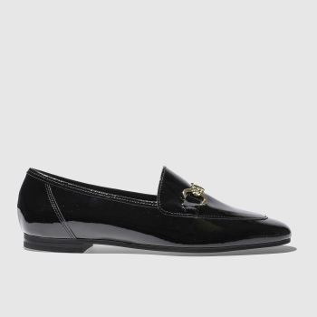 SCHUH BLACK DANDY FLAT SHOES