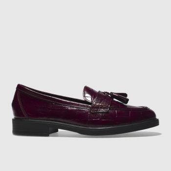 Schuh Burgundy Snappy Womens Flats