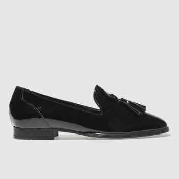 SCHUH BLACK GLEAM FLAT SHOES