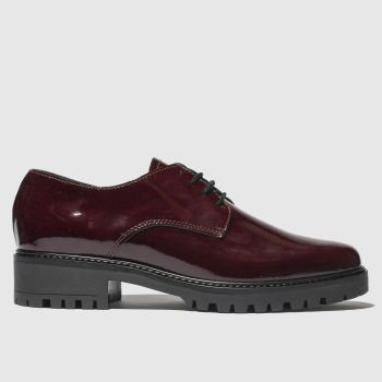 schuh burgundy asteroid flat shoes