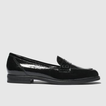 schuh black magnetize flat shoes