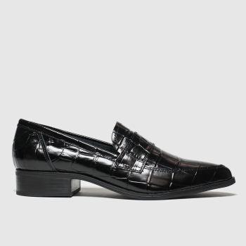 schuh black narrative flat shoes