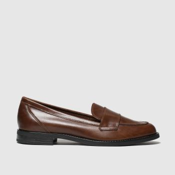 schuh brown chronicle flat shoes