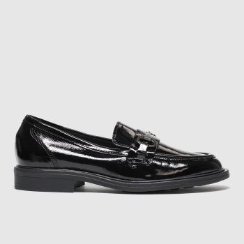 Schuh Schwarz Twilight Leather Loafer Damen Flats