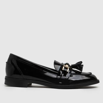 schuh Black Lizbeth Patent Leather Loafer Womens Flats