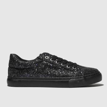 schuh black glitterati trainers