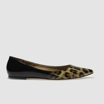 Schuh Black & Brown Elusive Womens Flats
