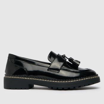 schuh Black Laurel Tassel Loafer Womens Flats