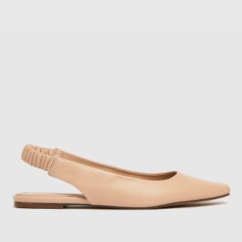schuh Natural Lettie Sling Back Ballerina Flats