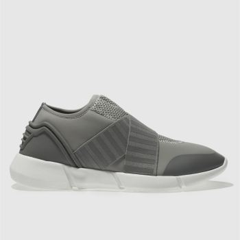 Schuh Grey Trouble Womens Trainers