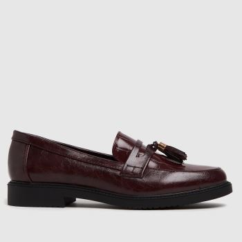 schuh Burgundy Knowledge Loafer Womens Flats