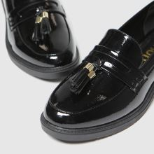 schuh Knowledge Black Patent Loafer 1