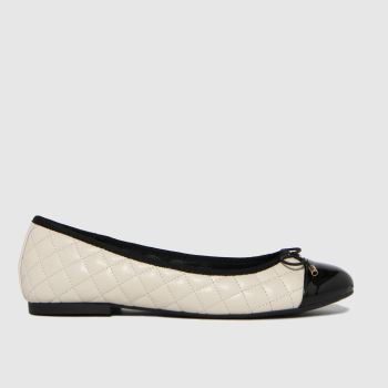 schuh White Luna Quilted Ballerina Flats