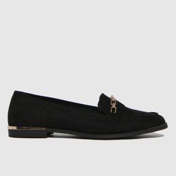 schuh Schwarz Lottie Chain Detail Loafer Damen Flats