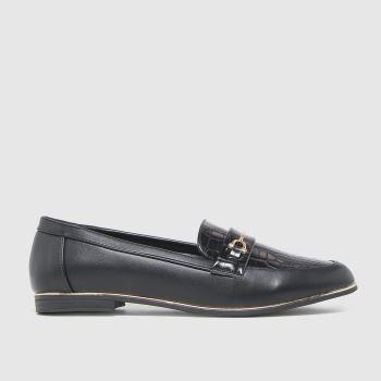 schuh Black Lizzi Snaffle Loafer Womens Flats