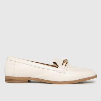 schuh White Liliana Chain Loafer Womens Flats