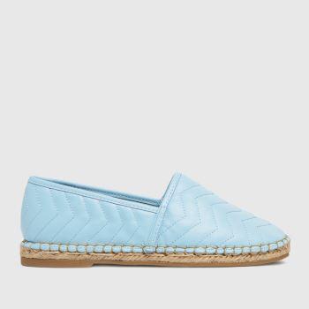 schuh Pale Blue Luz Espadrille Shoe Womens Flats
