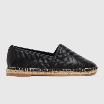 schuh Black Luz Espadrille Shoe Womens Flats