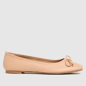schuh Natural Libet Square Toe Ballerina Womens Flats