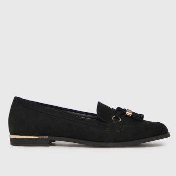 schuh Black Lissy Tassel Loafer Womens Flats