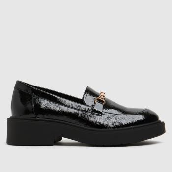 schuh Black Lazarus Chunky Loafer Womens Flats
