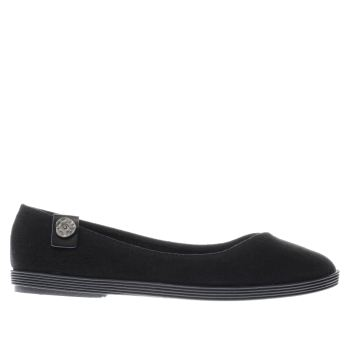 BLOWFISH BLACK GIAN LINEN FLAT SHOES