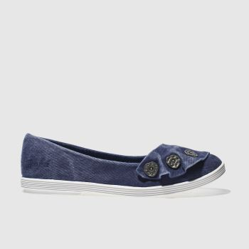 Blowfish Navy Garden Womens Flats