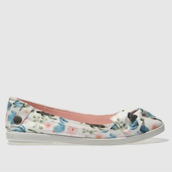Blowfish White & Pink Gimlet Womens Flats