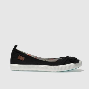 Blowfish Black & White Sansa Womens Flats