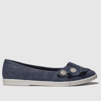 Blowfish Blau Galena Vegan Damen Flats