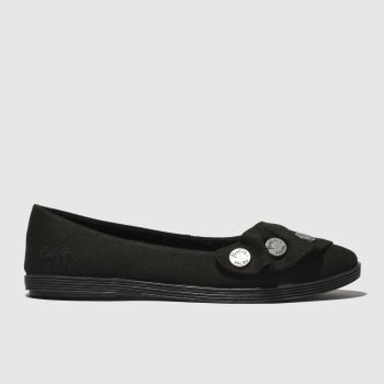 Blowfish Black Galena Vegan Womens Flats