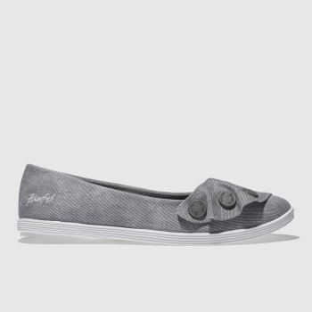 Blowfish Grey Galena Womens Flats