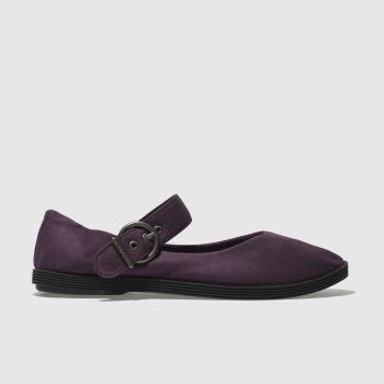 Blowfish Dark Purple Getaway Womens Flats
