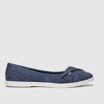 Blowfish Blue Tizzy Womens Flats