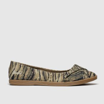 Blowfish Malibu Brown & Black Tizzy Womens Flats