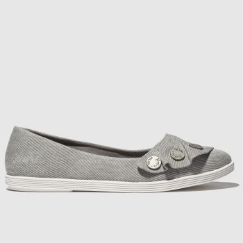 Blowfish Grey Galena Vegan Womens Flats