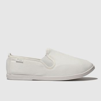 Blowfish Malibu White Gadget Womens Flats