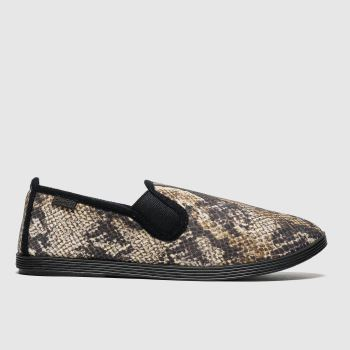 Blowfish Malibu Black & Brown Gadget Womens Flats