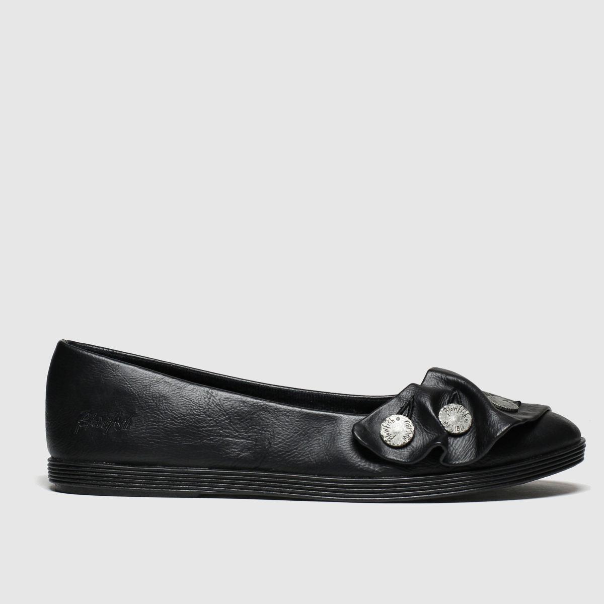 Blowfish Malibu Black Gogogo Vegan Flat Shoes