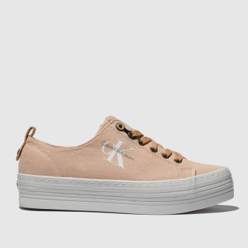 Calvin Klein Pink Jeans Zolah Canvas Womens Trainers