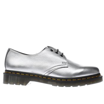 DR MARTENS SILVER 1461 FLAT SHOES