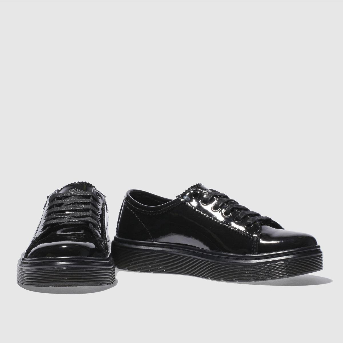 Damen Schwarz dr martens Patent Lyric Spin Lace Shoe Patent martens Flats | schuh Gute Qualität beliebte Schuhe 5c6234