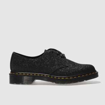 Dr Martens Black 1461 Glitter 3 Eye Womens Flats