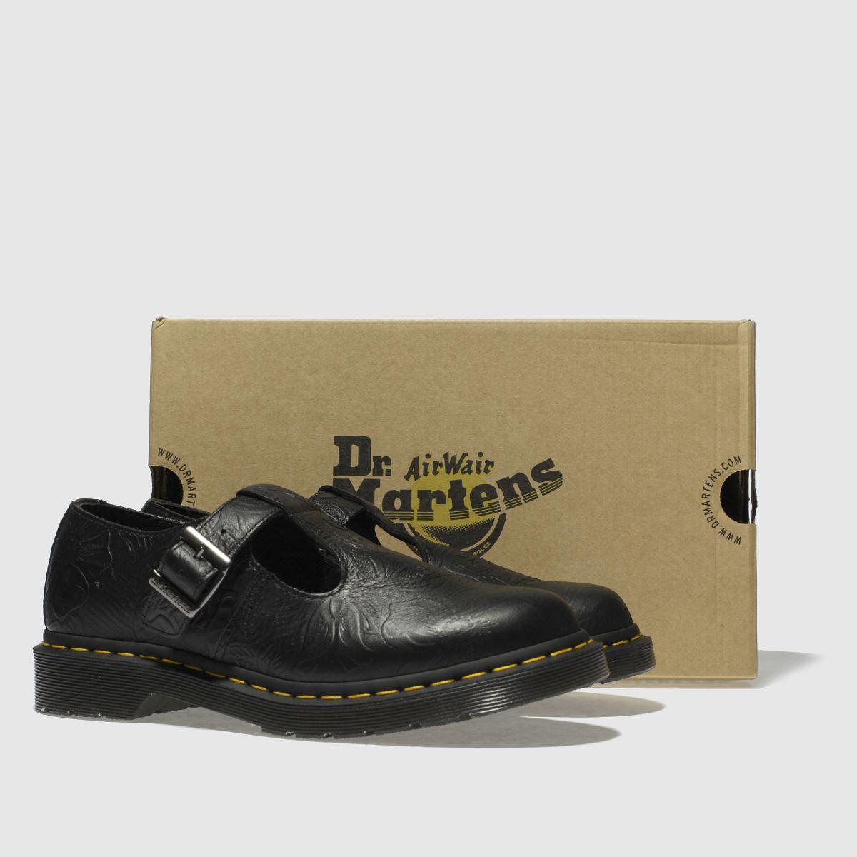 Damen Floral Schwarz dr martens Polley Floral Damen Emboss Flats | schuh Gute Qualität beliebte Schuhe ea4a4a