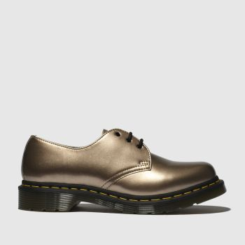Dr Martens Gold 1461 Vegan Chrome Womens Flats
