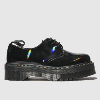 DR MARTENS BLACK 1461 MOLLY RAINBOW FLAT SHOES