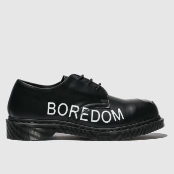 DR MARTENS BLACK 1925 3 EYE X SEX PISTOLS FLAT SHOES